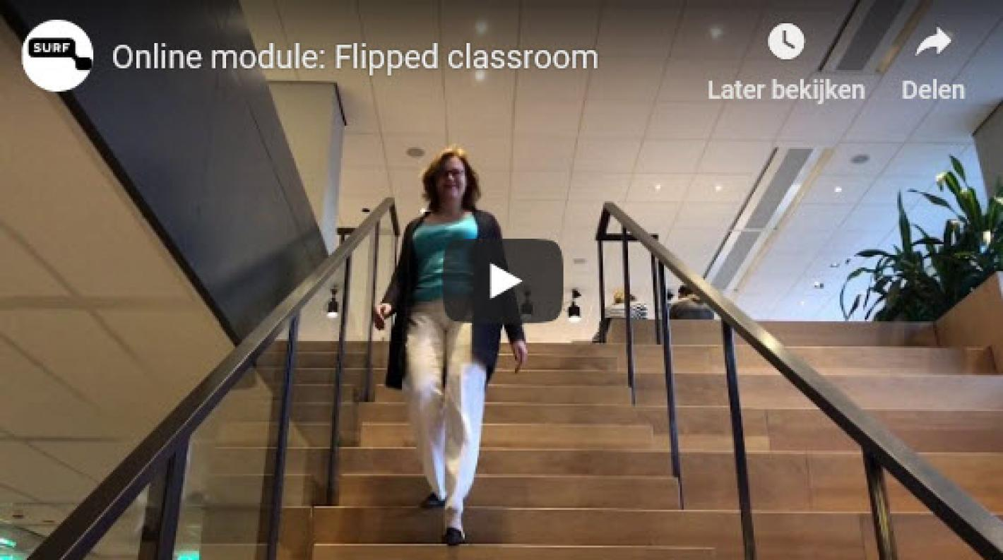 Online module flipping the classroom